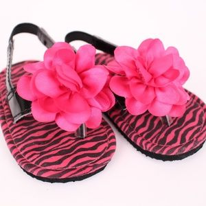 Stepping Stones Baby Flip Flops w/Ankle Strap NEW